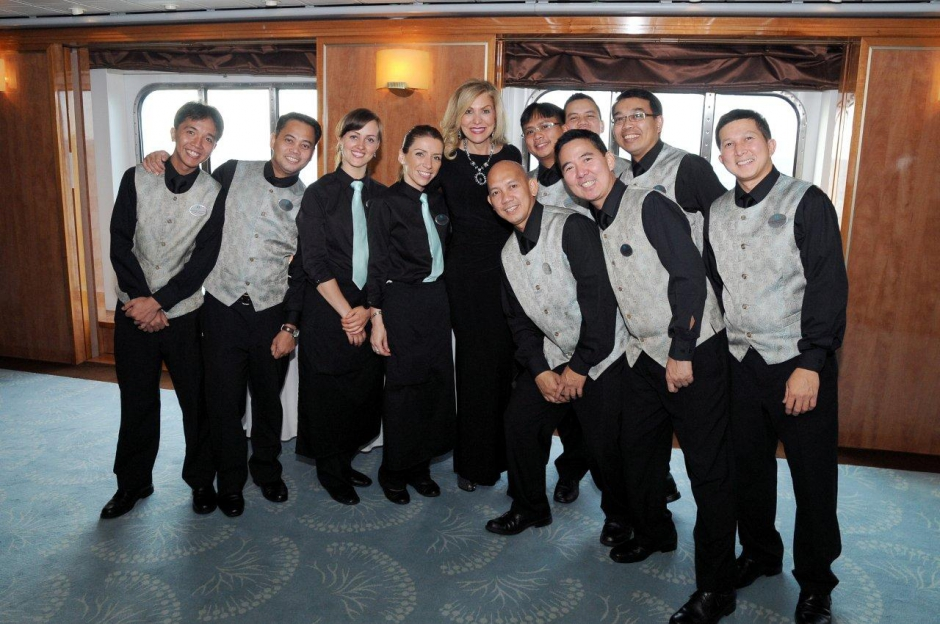 President & CEO Edie Rodriguez with Crystal crew members