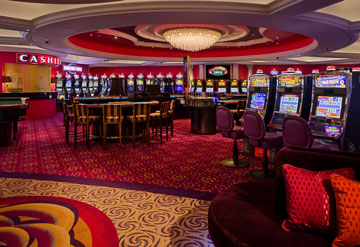 The onboard casinos offer a taste of nightlife virtually any time during days at sea.