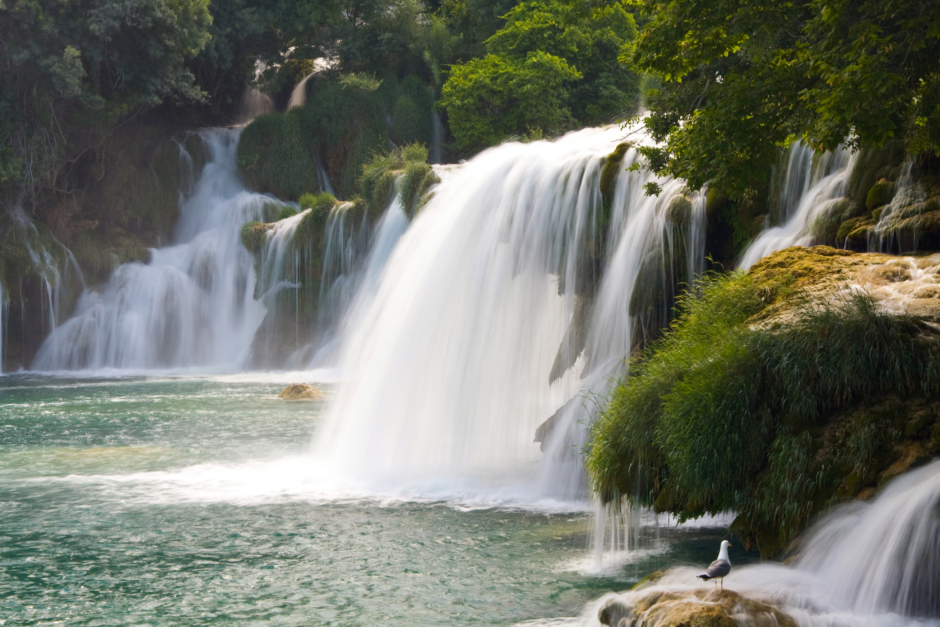 The waterfalls and lakes in Krka National Park range from raging waters to welcoming swimming spots.