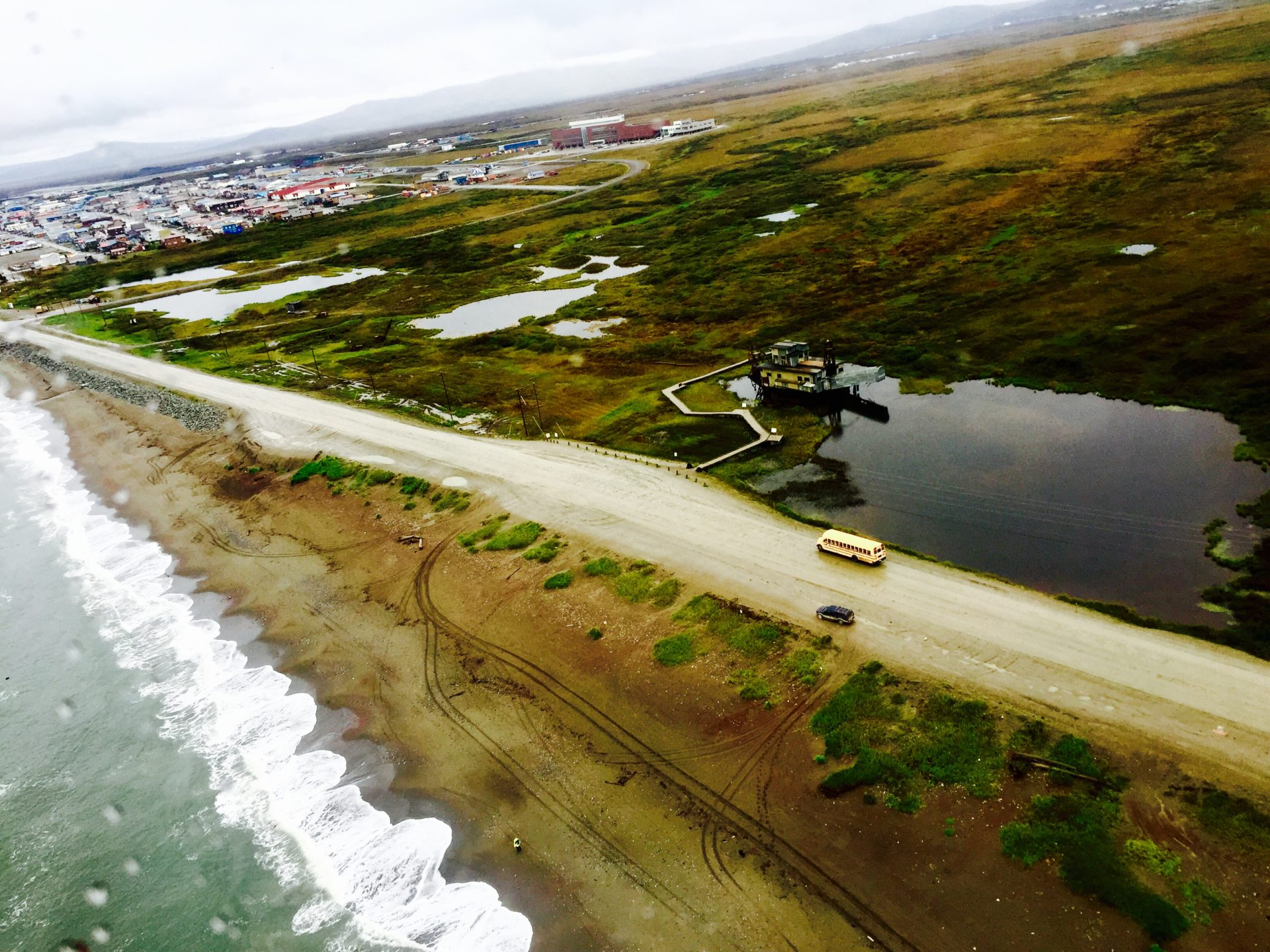 An aerial view of Nome, Alaska. (photo: Katie Jackson)